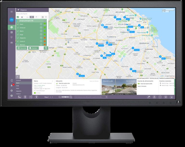 Con los servicios que ofrecemos usted podrá: Rastrear y administrar múltiples dispositivos, filtrar los objetos para encontrar rápidamente los necesarios y agruparlos, lograr una mejor organización y gestión de flota. Ubicar el objeto por tiempo, distancia y cambio de ángulo de giro, con una precisión mínima de hasta 1 metro. Ejecutar herramientas actualizadas de geolocalización de datos en tiempo real en pantalla. Observar la ubicación en imagen en 360° y administrar el tráfico para un mejor ruteo de su flota, licenciado por Google. Estudiar y analizar sus rutas para optimizar su logística.