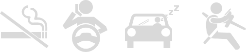 Iconografía DSM, Deteccion de fumador, conductor hablando por telefono, Conductor cansado, Distracción